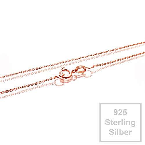 Rosevergoldete 925er Halskette Sterling Silber 0,8mm 42cm