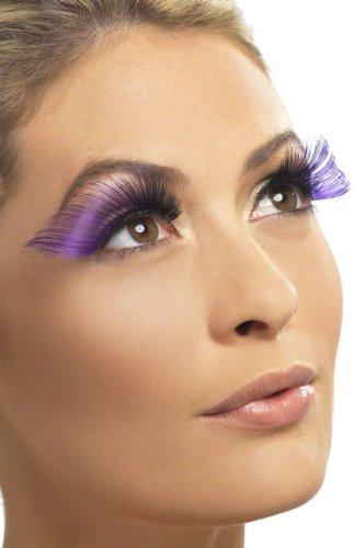 Boland BOL01632 Cils auto-adhésifs bicolore Noir/violet
