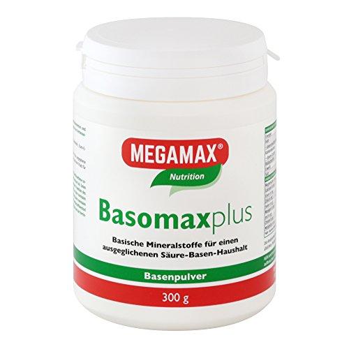 Megamax Basomax Basenpulver 300 g Vegan | für ausgeglichenen Säure-Basen-Haushalt mit Magnesium Calcium und Zink | Pulver für Basenfasten
