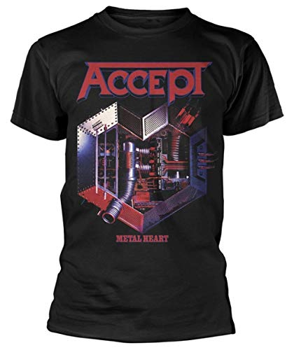 II Accept 'Metal Heart' T Shirt,Camisetas y Tops(XX-Large)