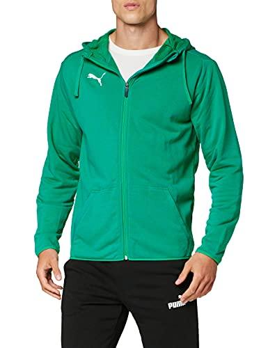 PUMA Liga Casual Hoody Jacket, Giacca Uomo, Verde (Pepper Green White), L