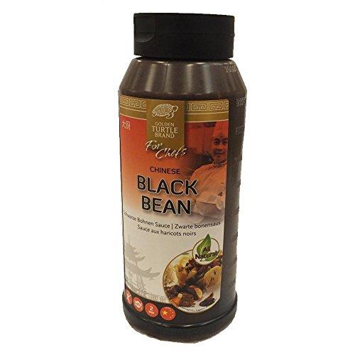 Golden Turtle Brand 'For Chefs' Chinese Black Bean Sauce 1000ml Flasche (Schwarze Bohnen Sauce)