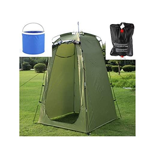 bjyx Bolso portátil de la Ducha Plegable de la Ducha de la Cabina de la Ducha de la Carpa del Poste de Acero Adecuado para la Playa de Camping al Aire Libre (Tienda: 120 * 120 * 185 cm)