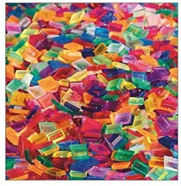 S&S Worldwide Color Splash! Square Plastic Tile Assortment 1 Pound Bag, Appx. 1,900 Pieces