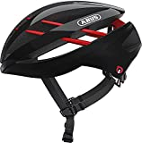 ABUS Aventor Quin Casco de carreras - Casco de bicicleta inteligente con detección de colisión y sistema de alarma SOS - Para hombres y mujeres - Negro, talla M