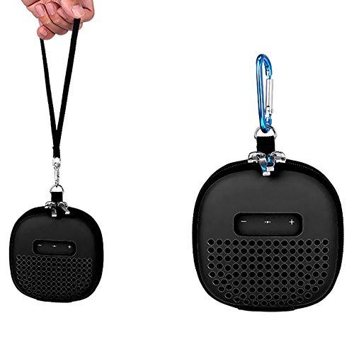 Meijunter Valise de Transport Portable Housse de portative boîtier étui Pochette Sac Case Cover Bag pour Bose Enceinte Bluetooth SoundLink Micro, Noir étui