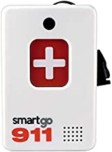 SmartGo 911 Help Now One-Touch Direct Connect Emergency Communicator Medical Alert Button Pendant (No Monthly Fee) - White