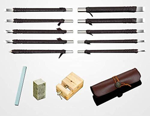 Outils de sculpture sur bois Kit-outils de sculpture en acier au tungstène Kit Set-choix d'artisanat préféré pour les adultes ou les enfants-grand cadeau d'apprentissage pour débutant ou Pro ,b