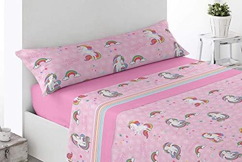 ok Juego de sábanas Verano Microfibra TRIX, Cama 90 x 190/200 cm (Bicolor)