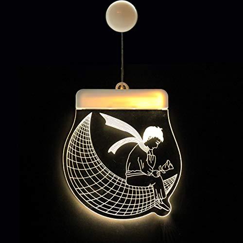 SGZBY Weihnachtsschmuck Usb Lichter Led Batterie Lichter Glocken Deer Lichter String 3D Acrylplatte Hängelampen