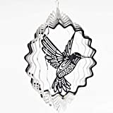 FENELY Metal Wind Spinner Outdoor, Garden Decoration,Yard Decor,Hummingbird Mandala Kinetic Hanging Whirligigs Sun
