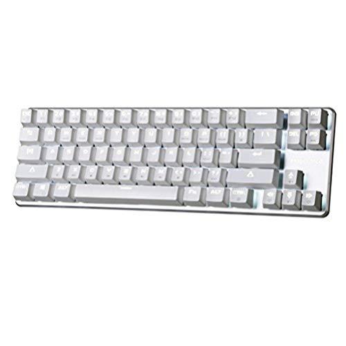 Ferienverkauf Qisan Mechanische Gaming Tastatur Hintergrundbeleuchtung Cherry MX Braun Schalter Verdrahtete Tastatur 68-Tasten Mini Design Fall Weiß