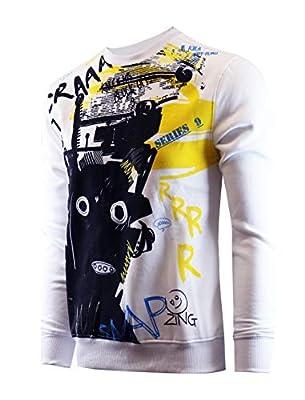 Screenshotbrand Mens Urban Hip Hop Premium Fleece - Pullover Active Urbanwear Street Fashion Crew Neck Sweatshirt