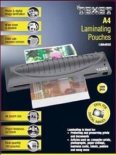 Texet - Láminas para plastificar fotos (100 unidades, tamaño A4, 250 micrómetros)