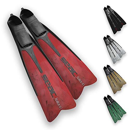 SEAC uniseks Vela OH, nurkowanie i pływanie basen krótkie płetwy z regulowanym paskiem, kolor kamuflażowy, 5,5/6,5 UK