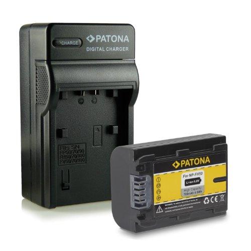 Novità - 4in1 Caricabatteria + Batteria come NP-FH50 per Sony CyberShot DSC-HX1 | DSC-HX100V | DSC-HX200V - DSLR Alpha 230 DSLR-A230 | 330 DSLR-A330 | 380 DSLR-A380 | 390 DSLR-A390 - Camcorder DCR-DVD Series | DCR-HC Series e più…