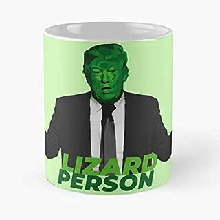 Donald Trump Lizard Person Coffee Mugs Unique Ceramic Novelty Cup