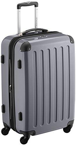HAUPTSTADTKOFFER - Alex - Hartschalen-Koffer Koffer Trolley Rollkoffer Reisekoffer Erweiterbar, 4 Rollen, 65 cm, 74 Liter, Titan