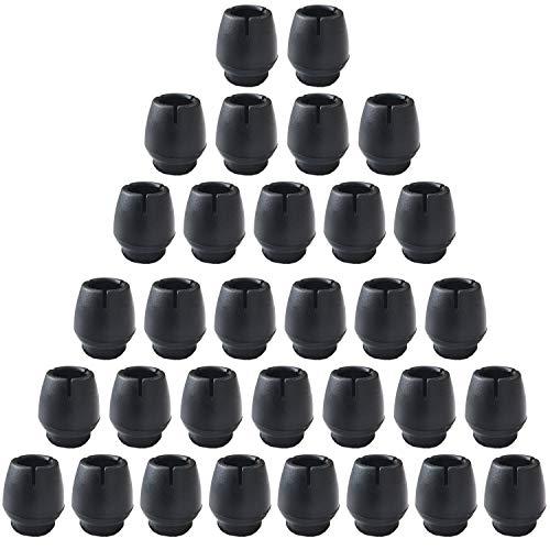 Silicone Table et Chaise Antidérapantes Pieds, 32 Pièces Chaise Casquettes Pieds de Chaise Protecteur pour Jambes de Meubles Rondes Noir(12-16mm)