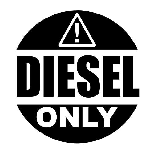 Yanxintiyu Cartello di avvertimento solo per auto diesel adesivi moda PVC camion accessori decorativi impermeabile e UV adesivi 14 x 13 cm (nome: nero)