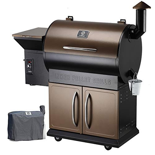 Z Grills Wood Pellet Grill Smoker with 2021 Newest Digital Controls ,700 Cooking Area 8- in-1 Grill, Smoke, Bake, Roast,...