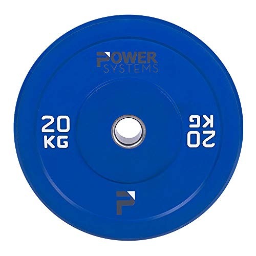 Preisvergleich Produktbild Power Systems 55894 Olympische Stoßstangenplatte,  5 kg,  Grau,  Olympic Bumper Plate,  20 Kilograms