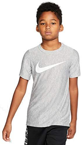 Nike Jungen B NK CORE SS PERF TOP Hthr T-Shirt, Smoke Grey/(White), L