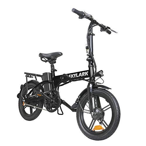 """Nakto 16"""" Folding Electric Bicycle Lightweight and Aluminum Folding EBike,Electric Bicycles for Adults"""