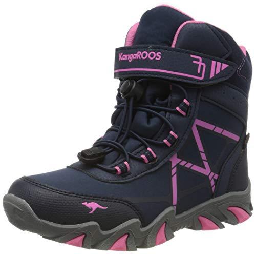 KangaROOS K-Tian RTX Unisex-Kinder Stiefel, Blau (Dark Navy/Daisy Pink 4204), 36 EU