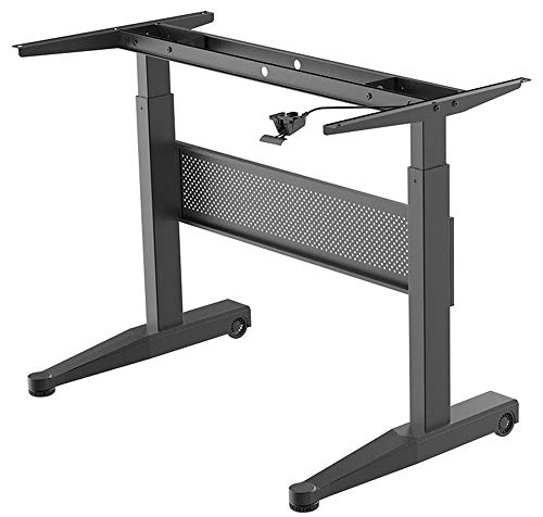 Price comparison product image Monoprice Height Adjustable Gas-Lift Sit-Stand Desk Frame - 4 Feet Wide - Black / Mobile and Versatile,  Easy to use