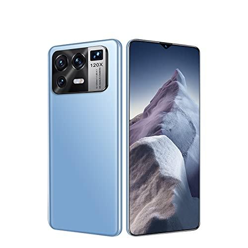 NZQLJT Teléfonos Móviles Desbloqueados, Smartphone 6.7' Smartphones Dual SIM Andriod 11.0 Global Version 6800 MAh Batería 16GB RAM 512GB ROM 32MP 50MP (Color : Blue)
