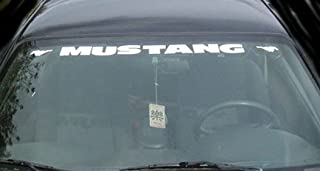 Mustang Windshield Decal with Ponies