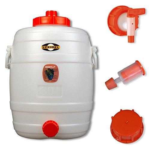 Speidel Getränkefass Verschiedene Größen mit oder ohne Zubehör (30L rund, mit Zubehör)