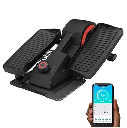 Cubii Pro Seated Under Desk Elliptical Machine for Home Workout, Pedal Bike Cycle Motion, Bluetooth sync Fitbit & Apple, Whisper Quiet, Compact Mini Exerciser w/Adjustable Resistance & LCD, Noir from