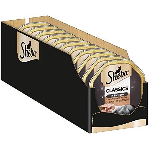 Sheba Classics in Pastete, Katzenfutter als Pasteten mit feinen Stückchen, für jeden Tag, 22 x 85 g