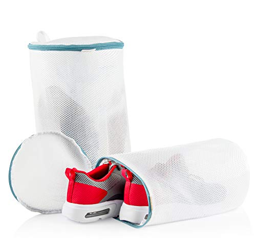 Travel Fanatics Mesh Shoe Wash Bag Shoe Cleaner Kit Bra Bag For Washing Machine Shoe Laundry Bag With Durable Zipper L  XL - 2 Pack