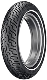 Dunlop Harley-Davidson D402 Front Motorcycle Tire MH90-21 (54H) Slim White Wall for Harley-Davidson Softail Standard FXST/I 2000-2008