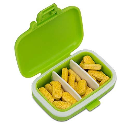 kexinda 4pcs píldora Cajas de plástico Rejillas pequeños contenedores organizadores de píldoras a Prueba de Agua portátiles para Cartera Bolso
