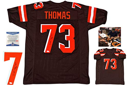Joe Thomas Autographed Signed Jersey - Brown - Beckett Authentic