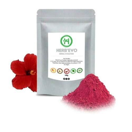 Polvo de hibisco orgánico