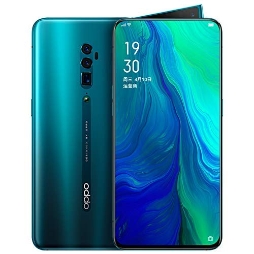 Original Oppo Reno 10x Zoom 6G+128G Mobile Phone Snapdragon 855 Android 9 Octa Core 48MP Cam OIS NFC 6.6' AMOLED VOOC 3.0 4065mAh Support Google by-(Real Star Technology) (Green)