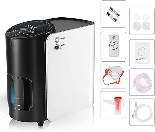 Kacsoo El generador de concentrador de oxígeno más nuevo 1L-7L / min máquina de oxígeno para el hogar control remoto inalámbrico 2 en 1 función de...
