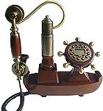 FDGSD Old-Fashioned Europe cordle Teléfono de Madera Teléfono Fijo Antiguo...