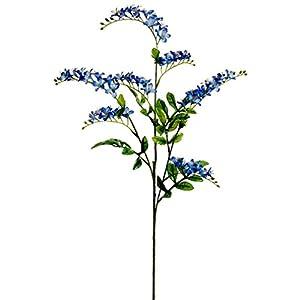 30″ Silk Vinca Flower Spray -Helio (Pack of 12)
