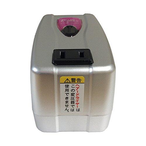 カシムラ 海外用 変圧器 AC 110V 〜 130V / 120W  , AC 220V 〜 240V / 75W Voltage Transformer 本体電源プラグ Aプラグ , 出力コンセント Aタイプ NTI-75