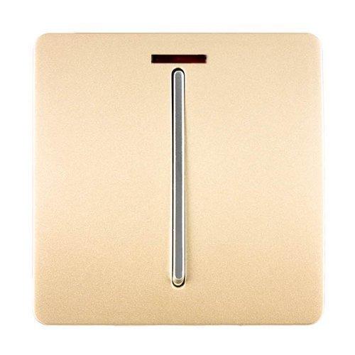 Trendi artistico moderno lucido 45a fornello tattile interruttore luce e inserto oro neon art-whs2go