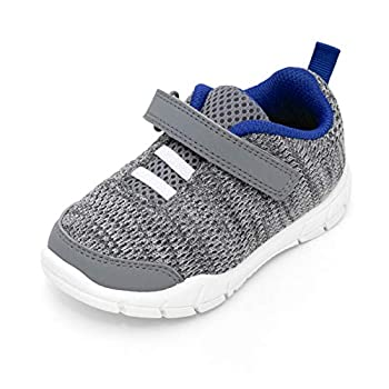 Simple Joys by Carter s Boy s Knitted Unisex Athletic Shoe Sneaker Grey 9 Toddler
