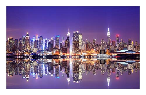 Puzzle Edificio Famoso del Paisaje Urbano Jigsaw 500/1000/1500 -Luces Pieza en Nueva York -Cada Pieza es única, Piezas encajan Perfectamente (Size : 1500pcs )