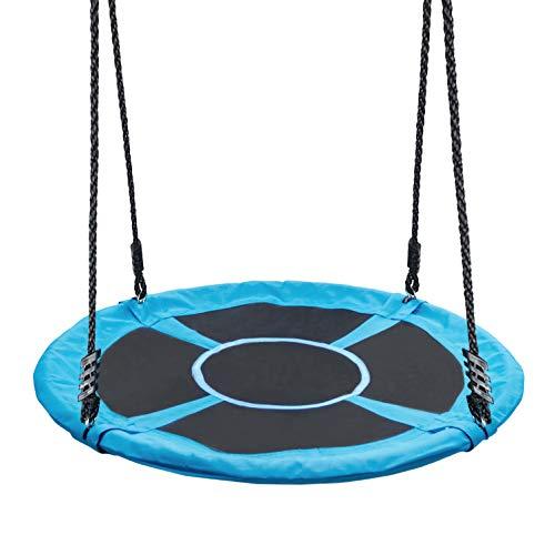 Yorbay Nestschaukel Tellerschaukel Kinder Rundschaukel Outdoor Ø 120 cm, Blau, kein verbleichen, bis 300 kg belastbar Mehrweg