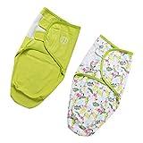 SM SunniMix 2 Piezas Sacos de Dormir de Algodón para Bebés Recién Nacido Envoltura de Envoltura de Capullo de Bebé - Flamingo, M